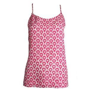 J.CREW pink floral tank top